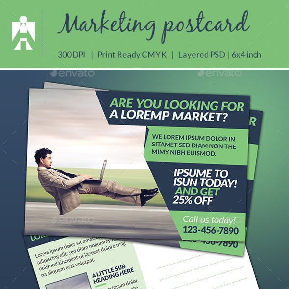 Corporate Marketing Postcard