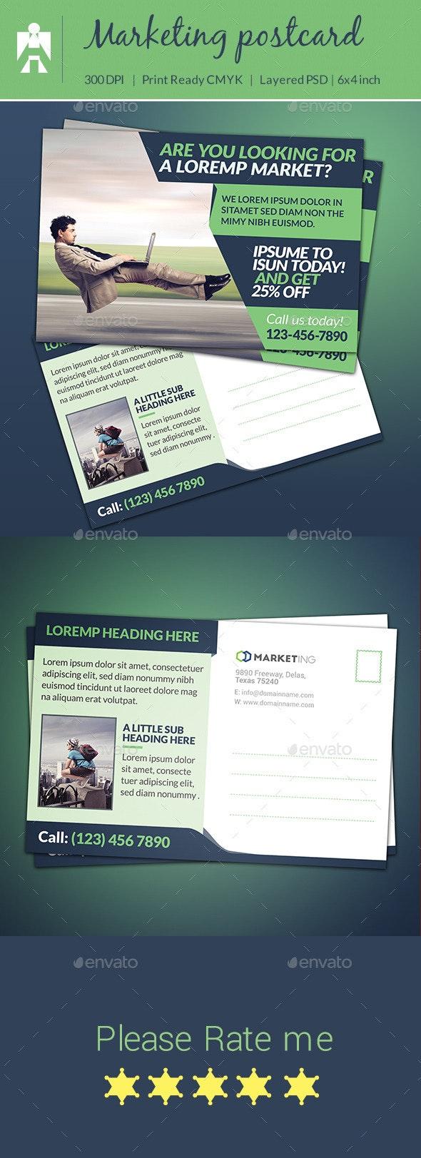Corporate Marketing Postcard - Cards & Invites Print Templates