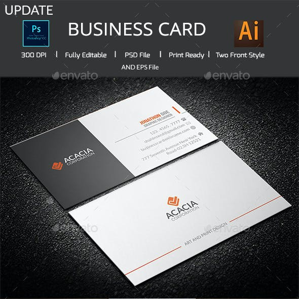 ACACIA Simple Business Card