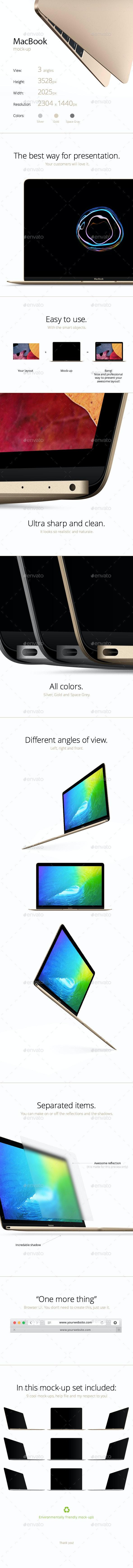 MacBook Mock-up - Laptop Displays