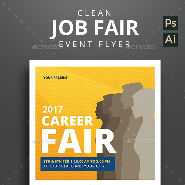 Clean Job Fair Event Flyer