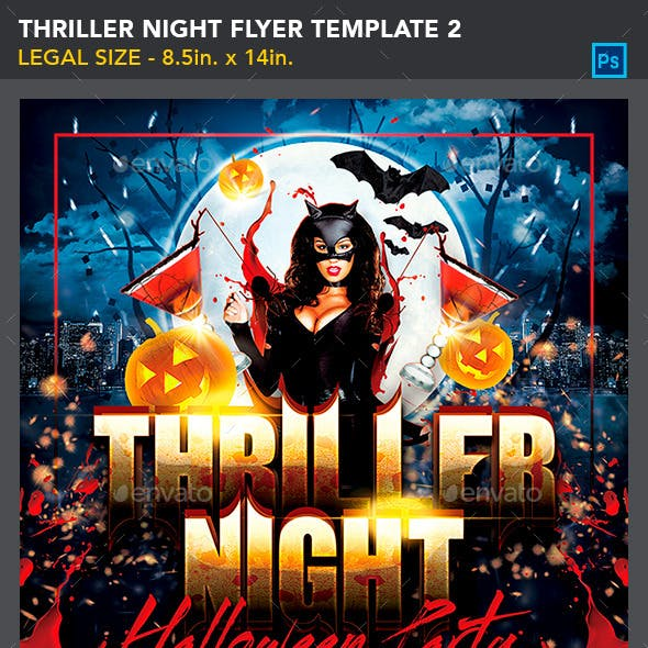 Thriller Night Halloween Flyer Template 2_8.5x14