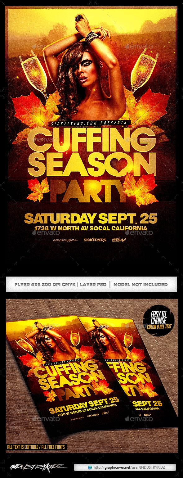Cuffing Season Flyer  - Clubs & Parties Events