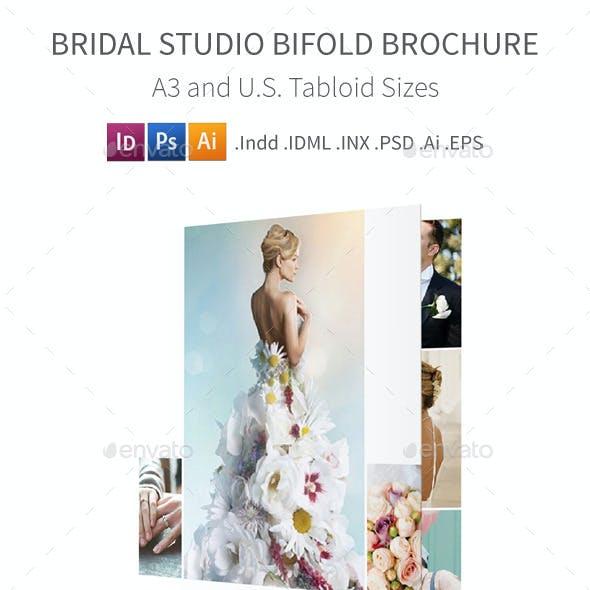 Bridal Studio Bifold / Halffold Brochure