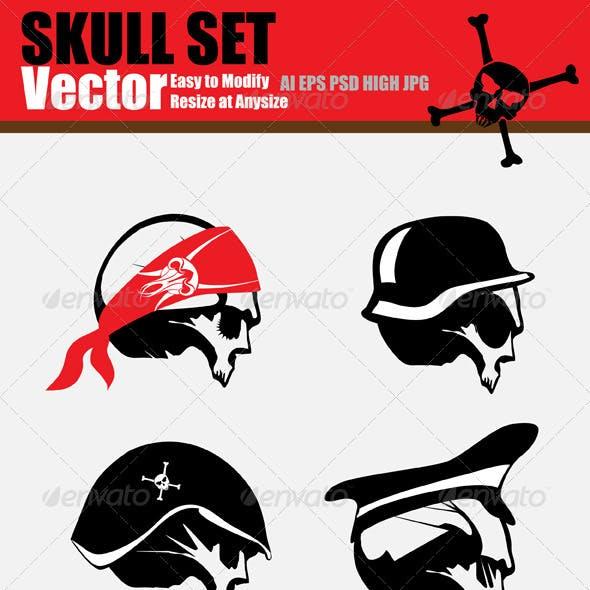 Vector Skull Set
