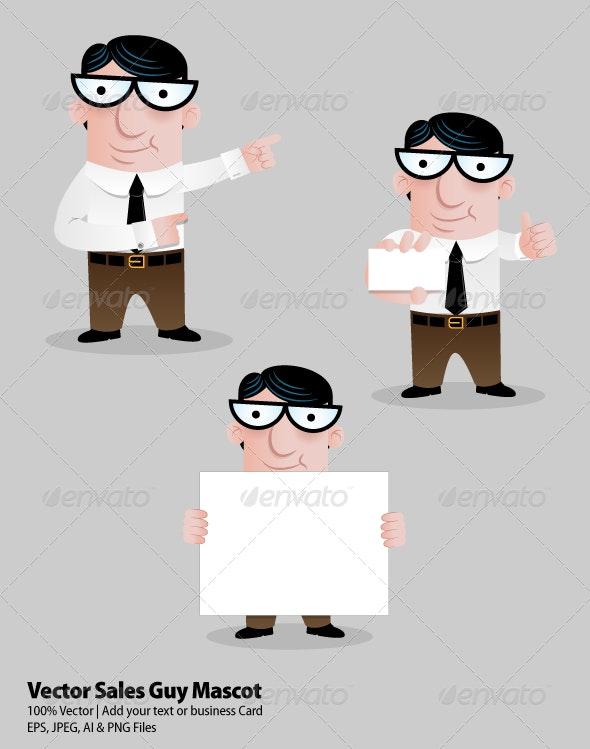 Sales Guy Mascot - Characters Vectors