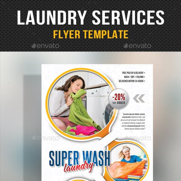 Laundry Services - Flyer Template V02