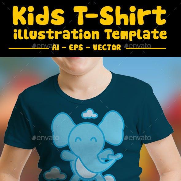 Elphant Kids T-Shirt Design
