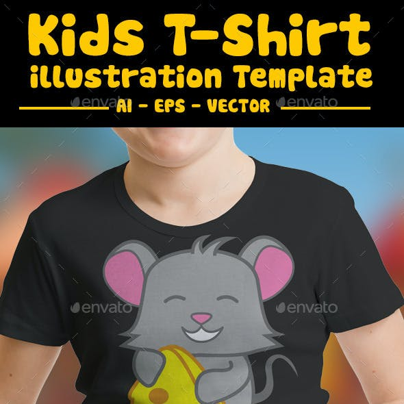 Mouse Kids T-Shirt Design