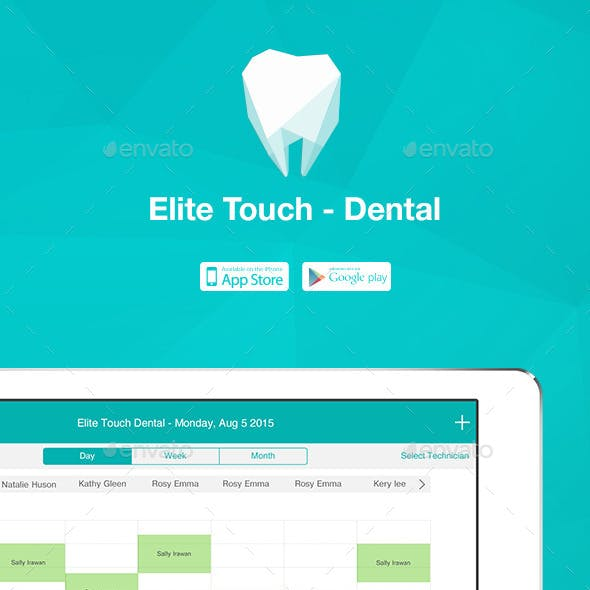 Elite Touch Dental UI Graphic Assets