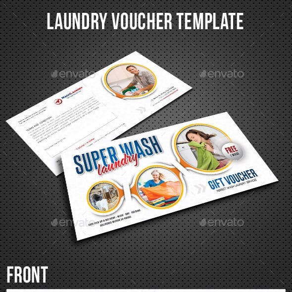 Laundry Services Gift Voucher V02