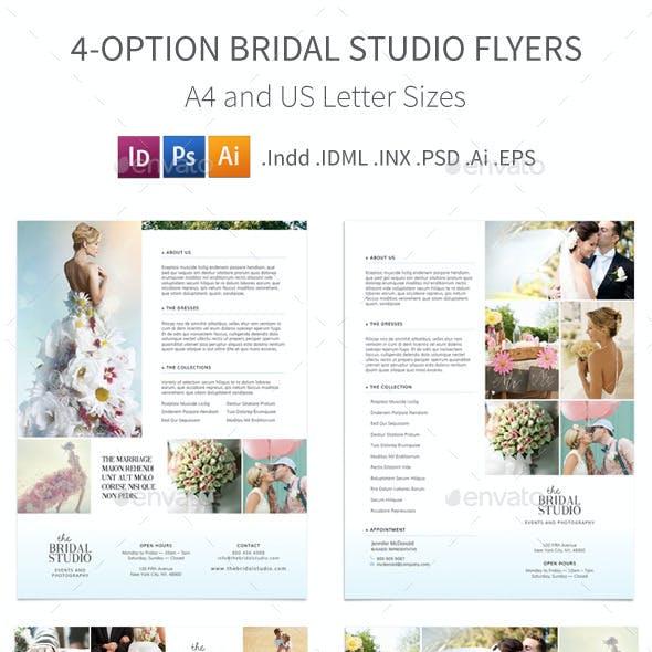 Bridal Studio Flyers – 4 Options