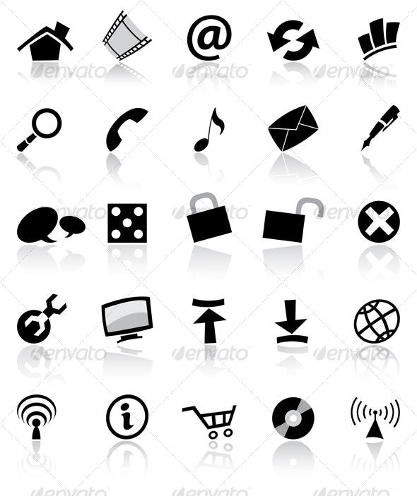 black web icons - Web Icons
