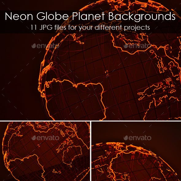 Neon Globe Planet Backgrounds