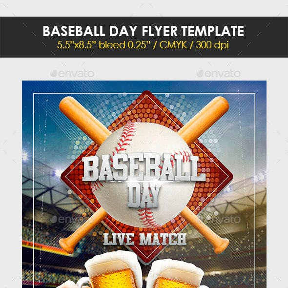 Baseball Day Flyer Template