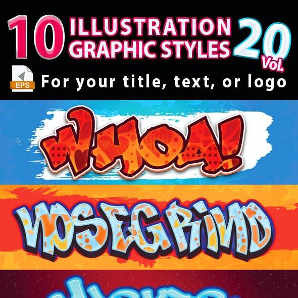 10 Illustrator Graphic Styles Vol.20