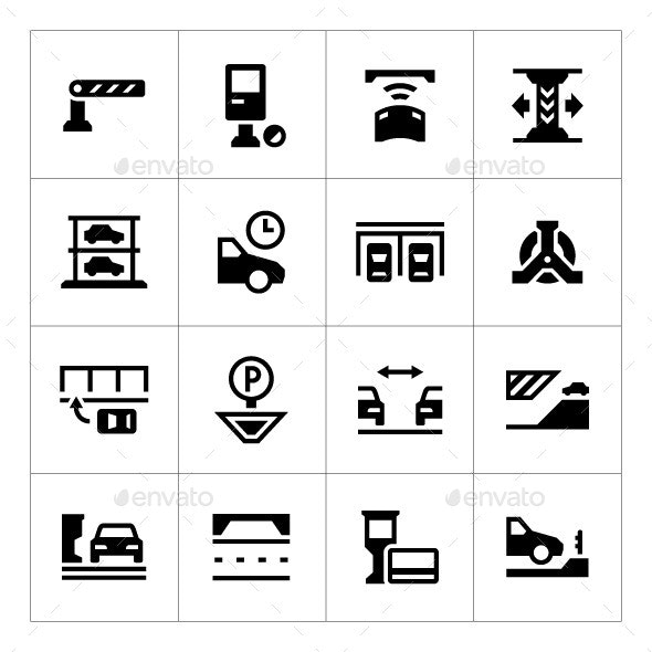 Set Icons of Parking
