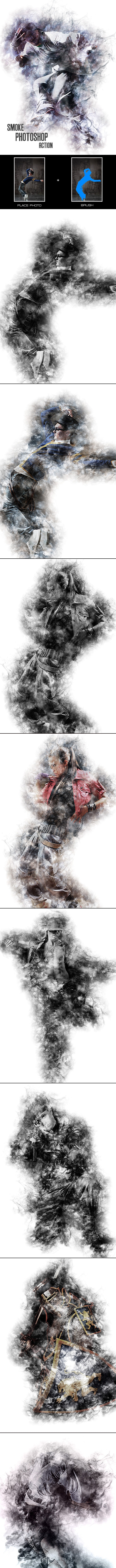 Smoke - Photoshop Action - Photo Effects Actions