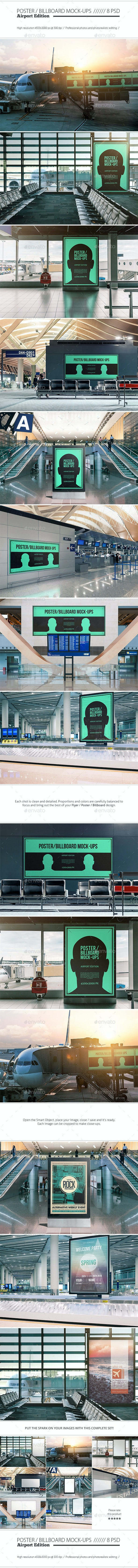 Poster / Billboard Mock-ups - Airport Edition - Posters Print