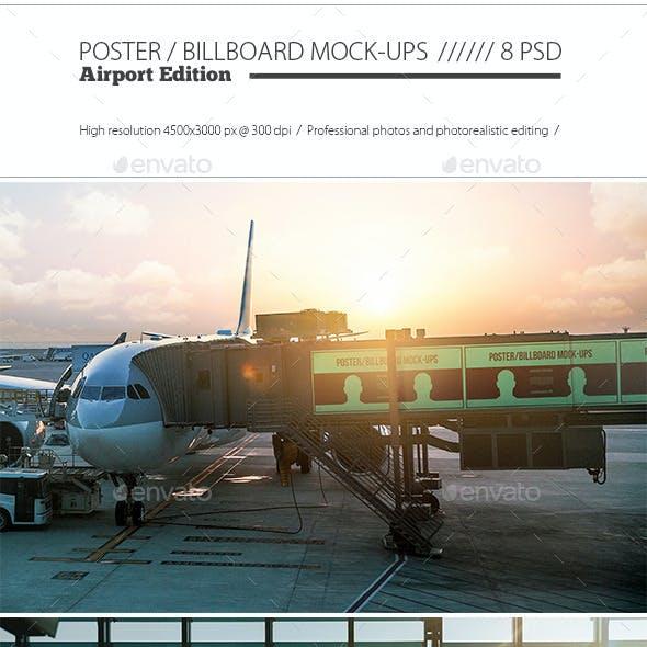 Poster / Billboard Mock-ups - Airport Edition