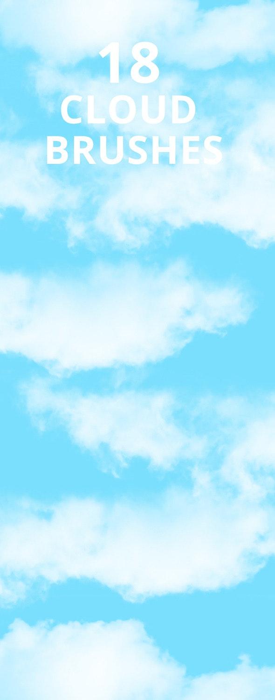 Sky Cloud Photoshop Brush Set - Miscellaneous Brushes