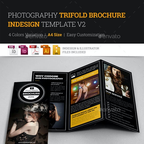 Photography Trifold Brochure Indesign Template v2