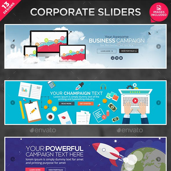 Business Sliders - 13 Designs
