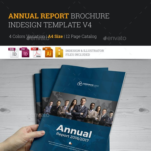 Annual Report Brochure Indesign Template 4