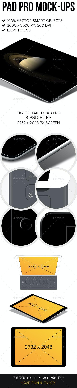 Pad Pro Mock-ups - Product Mock-Ups Graphics