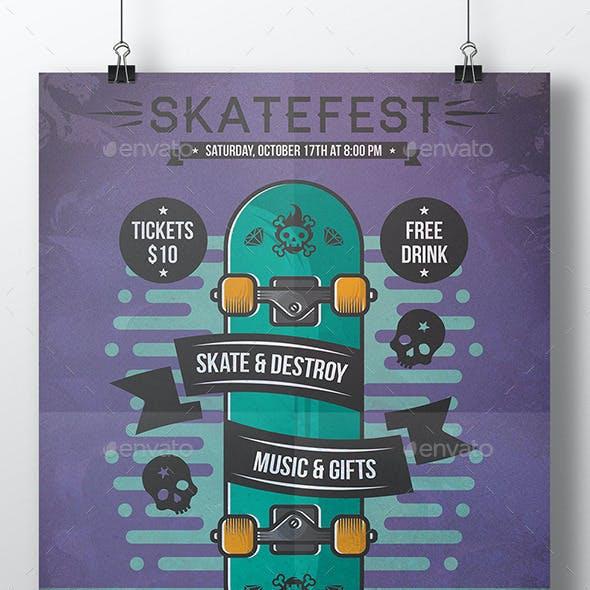 Skate Poster Flyer Event