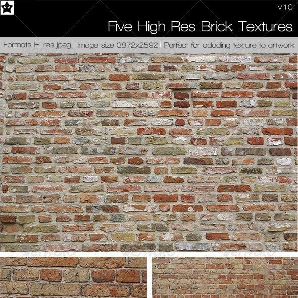 5 High Res Brick Textures