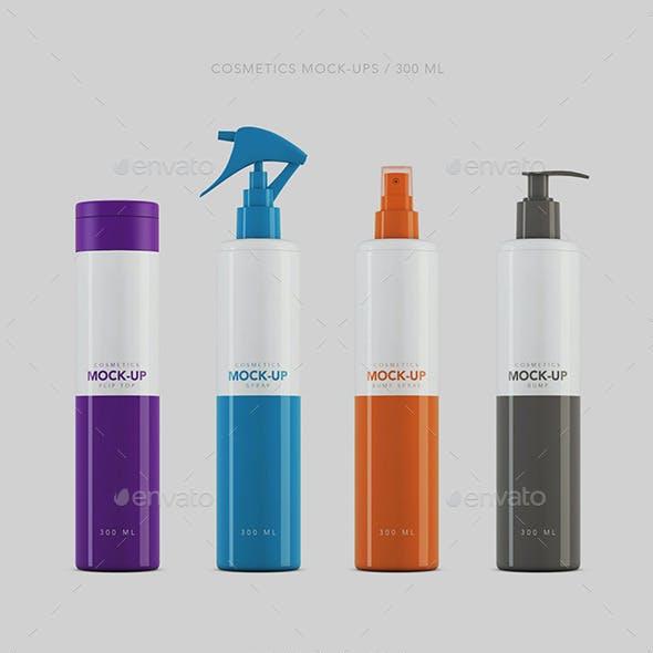 Cosmetics Packaging Mockup 300ml