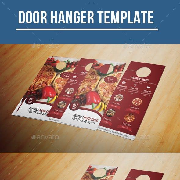 Food Menu Door Hanger