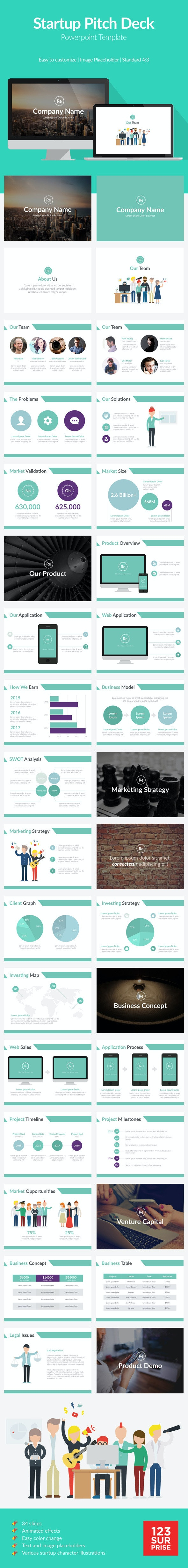 Startup Pitch Deck Template - Pitch Deck PowerPoint Templates