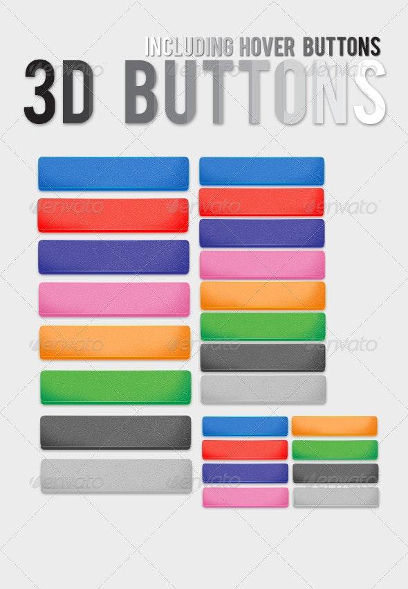 3D Buttons - Buttons Web Elements