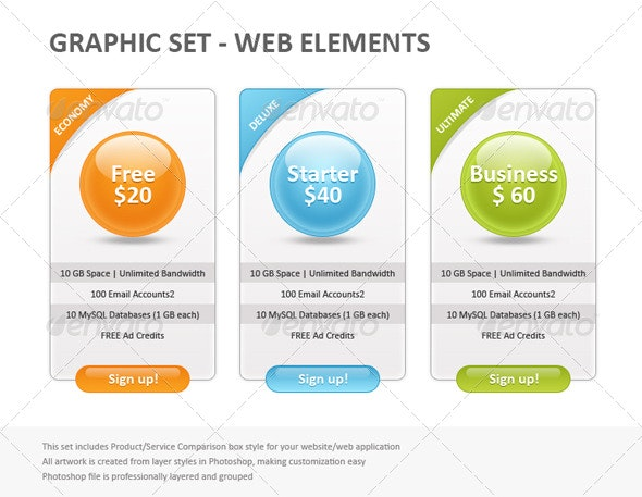 Web Domain Banner - Banners & Ads Web Elements