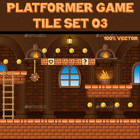 Platform Game Tile Set 03