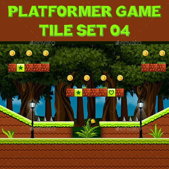 Platform Game Tile Set 04