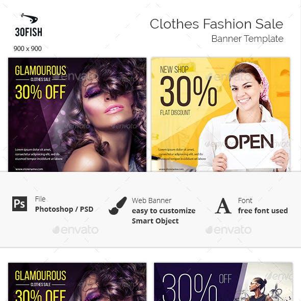 Clothes Fashion Sale Banner