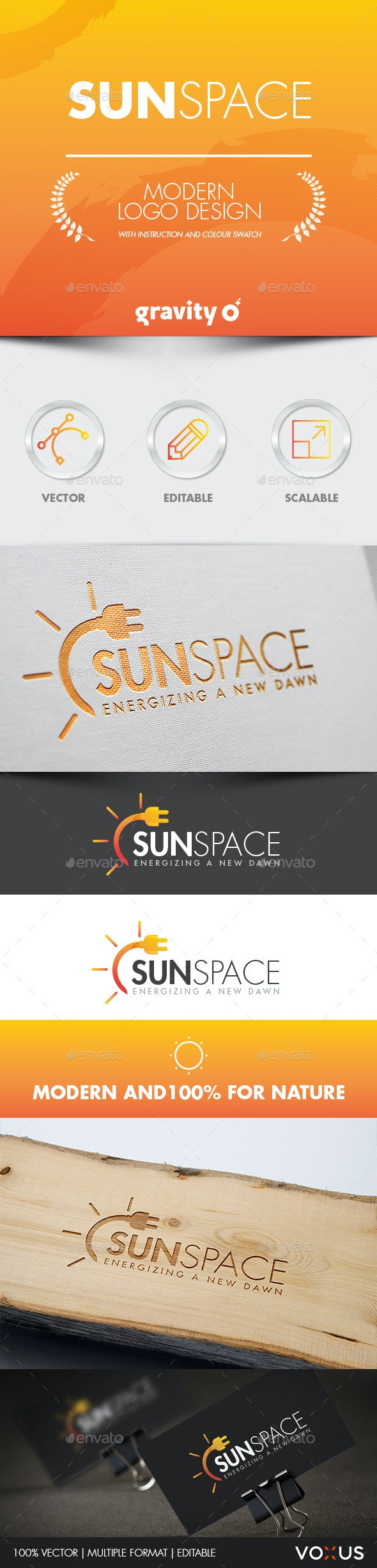 Sun Space Logo - Logo Templates