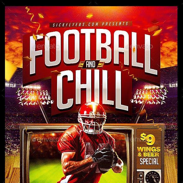 Football and Chill Flyer
