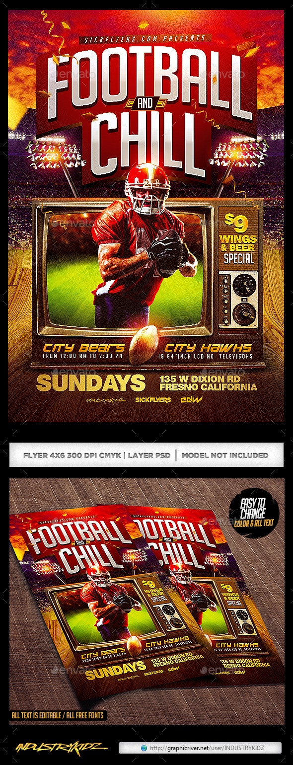 Football and Chill Flyer - Sports Events
