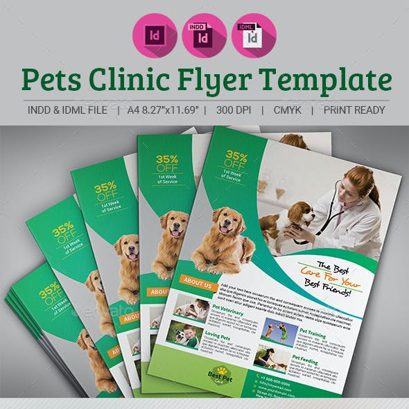 Pets Clinic Flyer Template