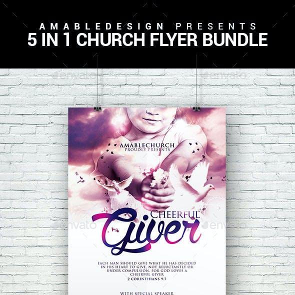5 in 1 Church Flyer Bundle