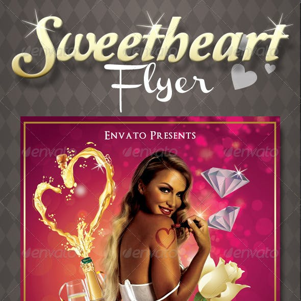 Sweetheart Valentines Flyer Template