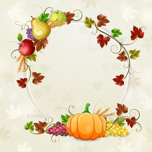Autumn Illustration for Thanksgiving Day