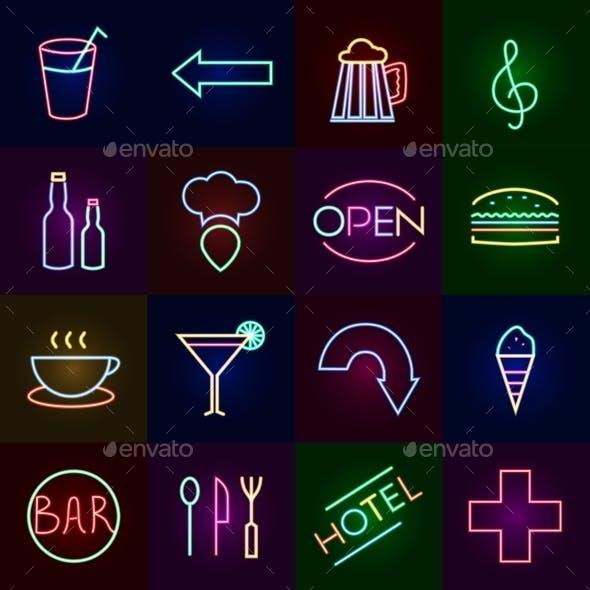 Neon Icons Set