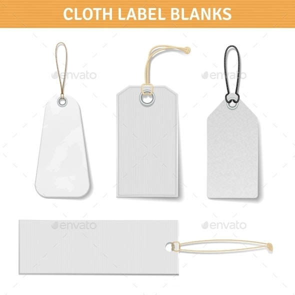Clothes Label Tags Set - Retail Commercial / Shopping