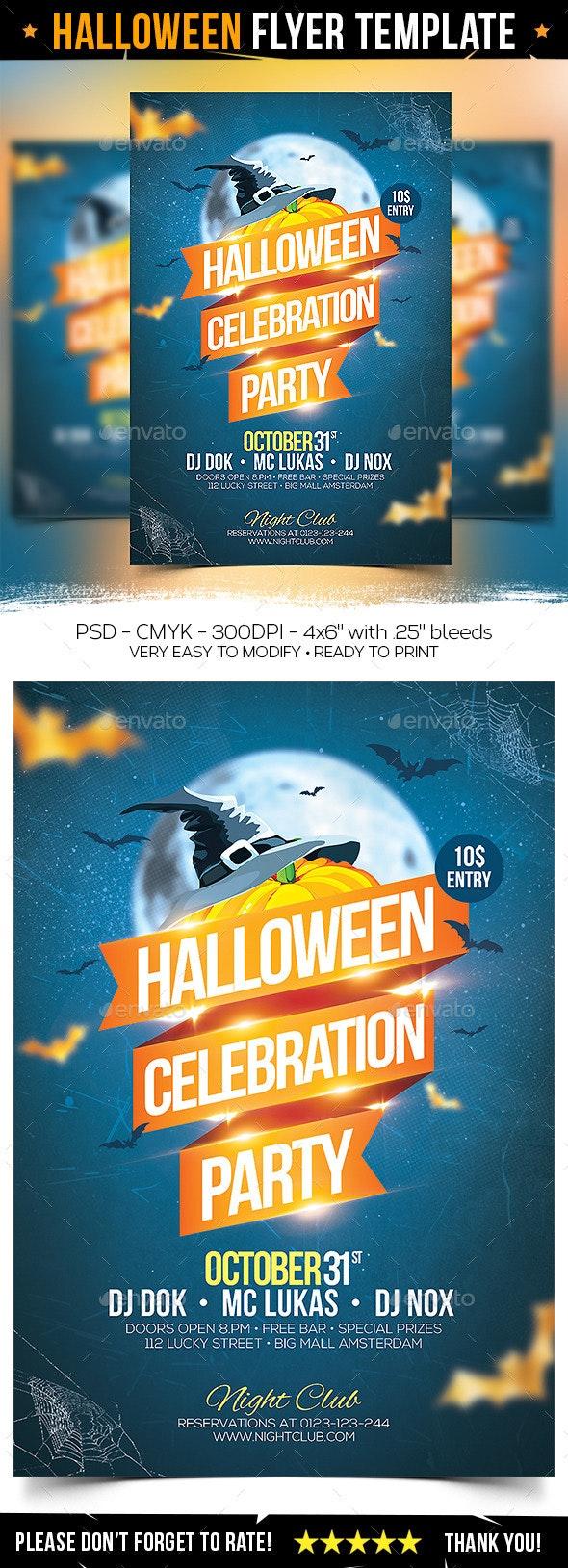 Halloween Celebration Flyer - Clubs & Parties Events
