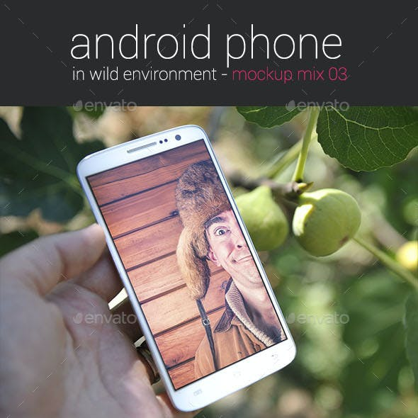 Android Phone in Wild Environment ver. 03 - Mockup